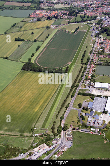 Aerial image of Thirsk Racecourse, North Yorkshire - Stock Image