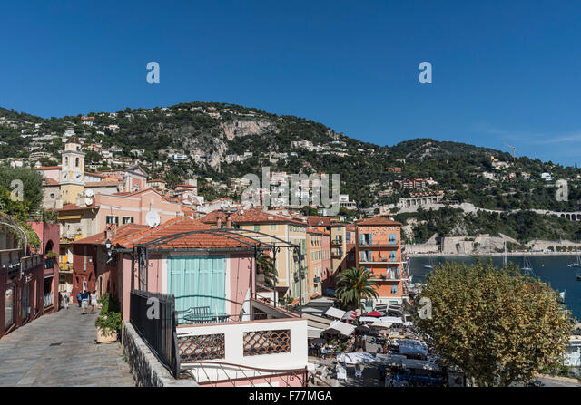 Villefranche sur mer, Cote d Azur, South of France, - Stock Image