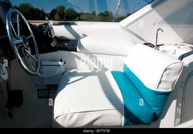 Wheel Seat Motor Boat Stock Photos Wheel Seat Motor Boat