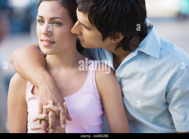 kiss on the shoulder stock photos amp kiss on the shoulder