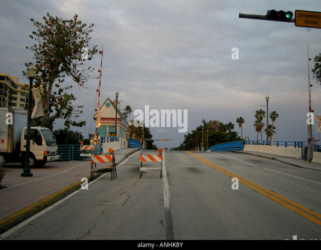 Draw Bridge Delray Beach Florida - Stock Image