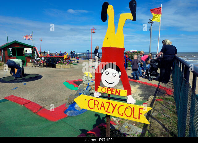 Mablethorpe crazy golf course. Lincolnshire - Stock Image