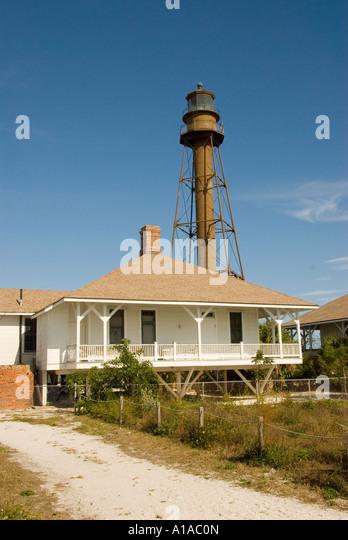 Florida Sanibel Island lighthouse - Stock Image