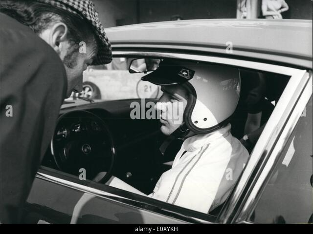Apr. 04, 1968 - Jean-Claude Killy, famous french ski-star will participate at 100 kilometer's race at Monza - Stock Image