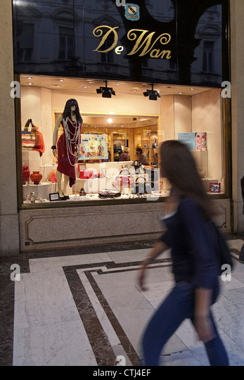 De Wan fashion shop in Via Roma, Turin Piedmont, Italy - Stock Image