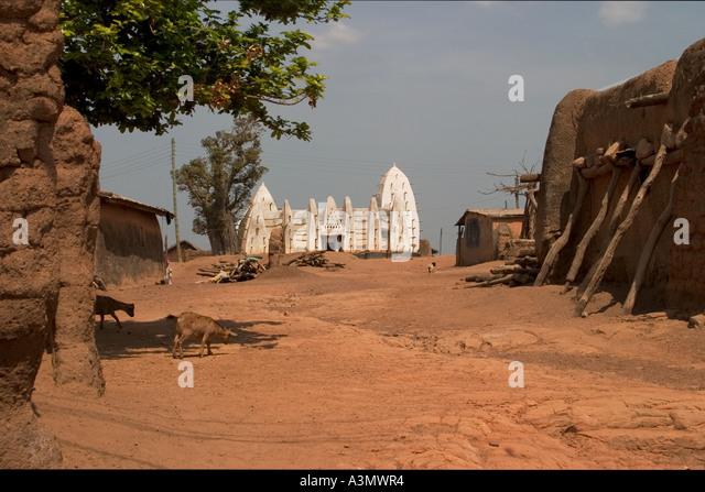 Larabanga Mosque, Larabanga Village, Ghana, - Stock Image