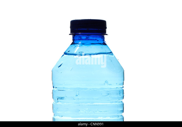 Water bottles isolated on white - Stock Image