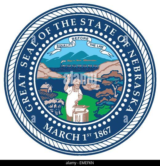 Nebraska State Seal - Stock Image