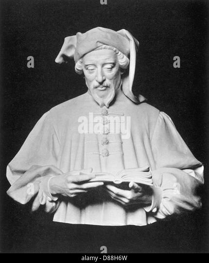 Bust Of Chaucer - Stock Image