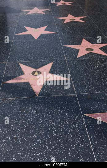 walk of fame los angeles stock photos walk of fame los angeles stock images alamy. Black Bedroom Furniture Sets. Home Design Ideas