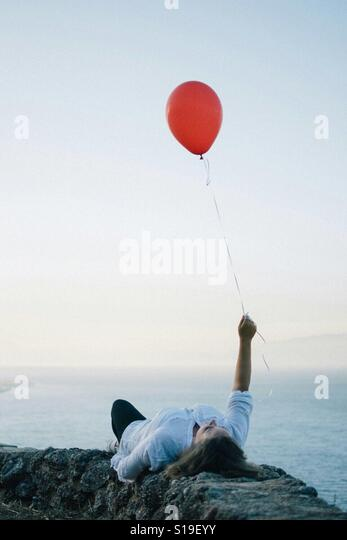 Red balloon - Stock Image