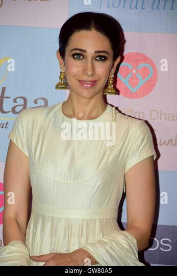 Bollywood actor Karisma Kapoor during celebrity stylist, Tanya Ghavri's Dhoom Dhaam Wedding Trunk Show, in Mumbai - Stock Image