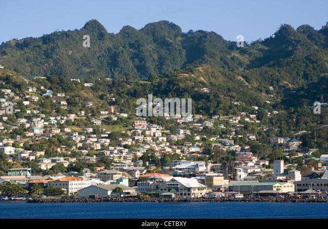 Caribbean St.Vincent, Kingstown - Stock-Bilder