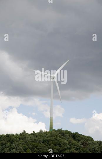 windrad an der allianz-arena, muenchen, bayern, deutschland, wind wheel, munich, bavaria, germany - Stock-Bilder