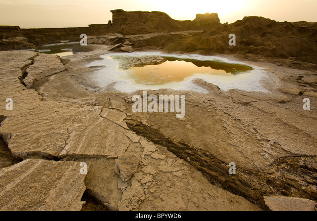 Photograph of the landscape of the Dead Sea - Stock Image