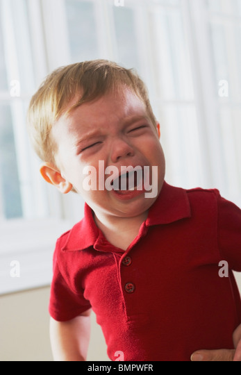 Knoxville, Tennessee, United States Of America; A Young Boy Crying - Stock Image