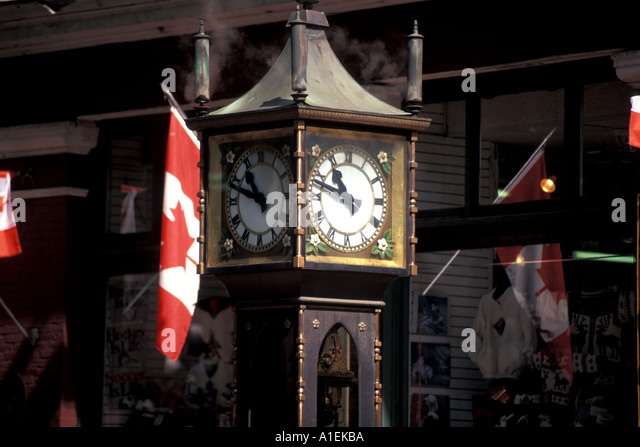 Vancouver Canada Gastown Steam Clock - Stock Image