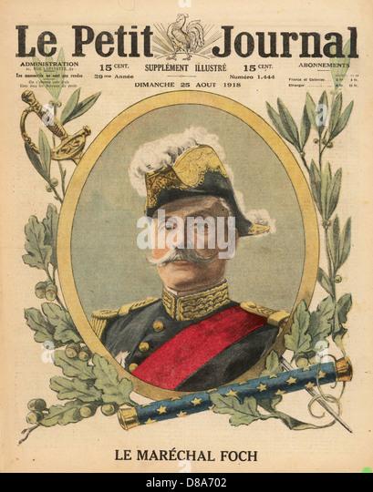 Ferdinand Foch 1918 - Stock Image