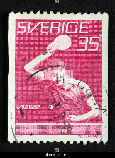 Swedish postage stamp - Stock Image