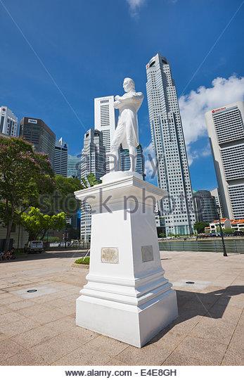 Raffles image, Singapore, Asia, - Stock Image