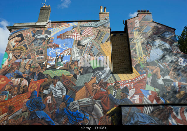 Cable st stock photos cable st stock images alamy for Battle of cable street mural