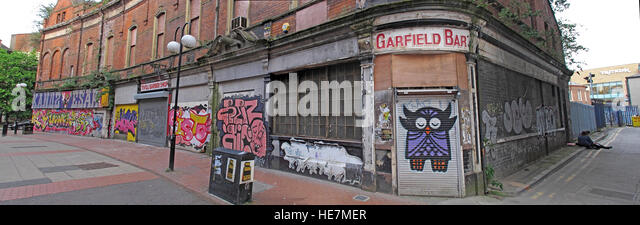 Belfast Garfield St pano       City Centre, Northern Ireland, UK - Stock Image