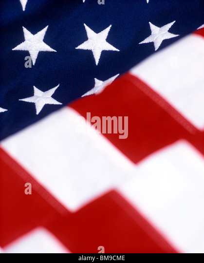 United States Flag close-up - Stock Image