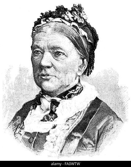 Jeanne Marie von Gayette-Georgens, 1817-1895, a Prussian writer and educator, - Stock-Bilder