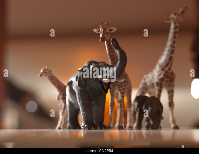 Safari animals models - Stock Image