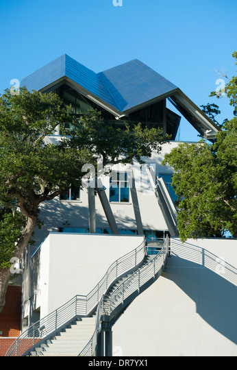 USA Mississippi MS Miss Biloxi Ohr-O'Keefe Museum of Art exterior - Gulf of Mexico shores - Stock Image