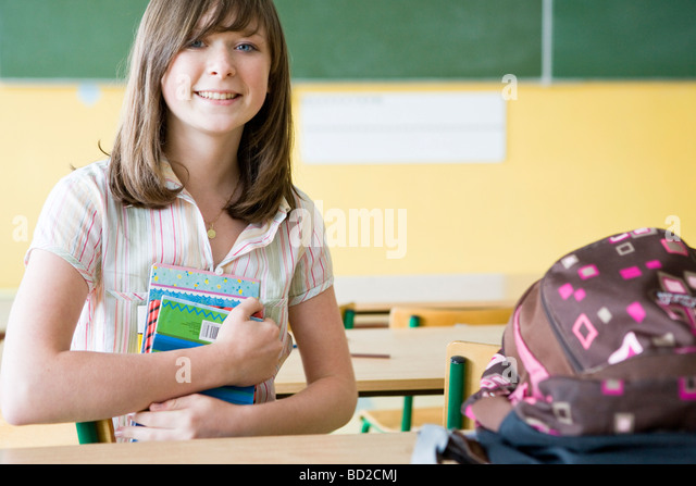 student in class - Stock Image