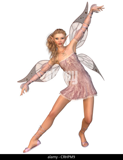 Pretty Pink Fairy - Stock Image