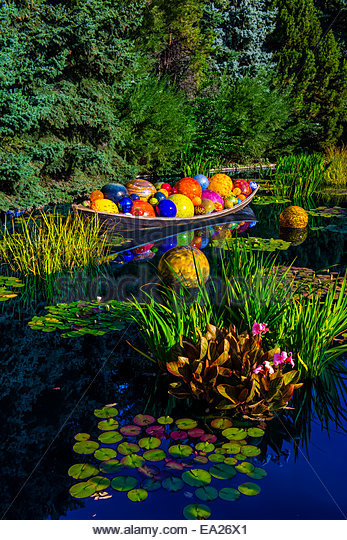 Blown Glass Garden Float