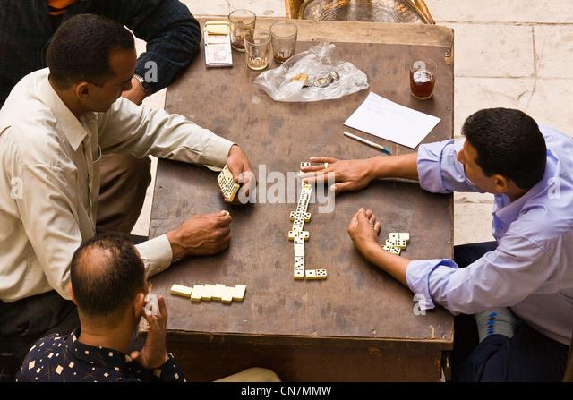 Egypt, Cairo, dominoes players - Stock Image