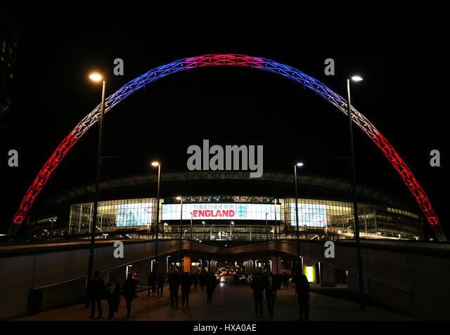 Wembley Stadium, London, UK. 26th March 2017. World Cup 2018 Qualification football, England versus Lithuania; Wembley - Stock-Bilder