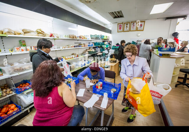 London, UK. 17th May 2014. Food Bank dependency continues to increase in London Credit:  Guy Corbishley/Alamy Live - Stock Image