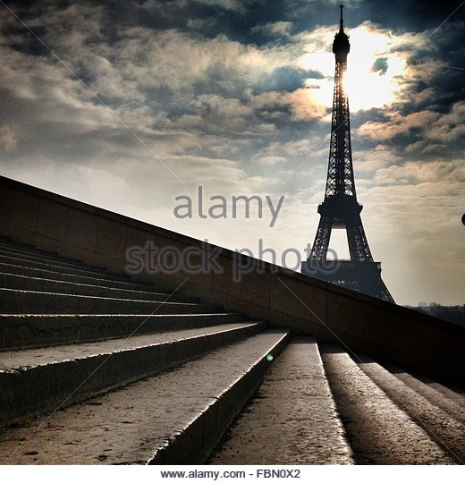 France, Paris, Eiffel Tower - Stock Image