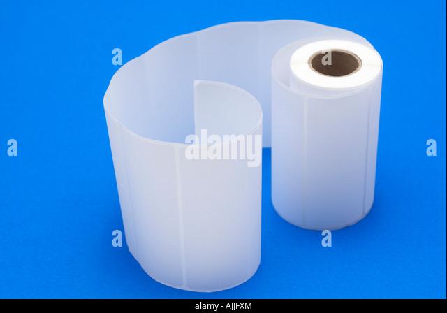 Adhesive address labels - Stock Image