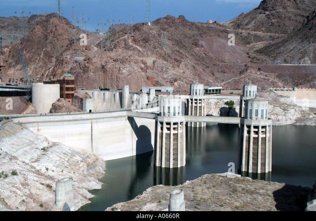 Hoover Dam, Arizona/Nevada border - Stock Image