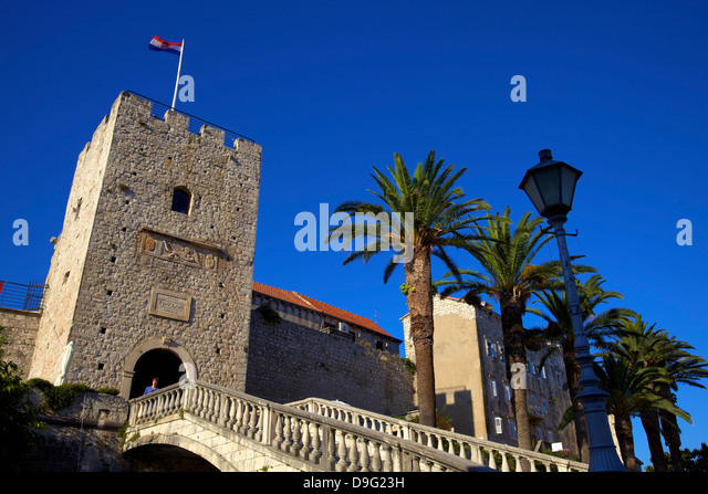 Land Gate, Korcula, Croatia - Stock Image