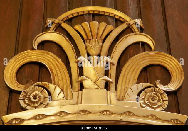 Ohio Cincinnati Hilton Netherland Plaza Art Deco design detail interior lobby - Stock Image