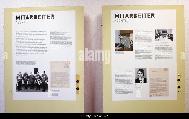 The exhibition of the Federal Commissioner for the Stasi Archives - Stock Image