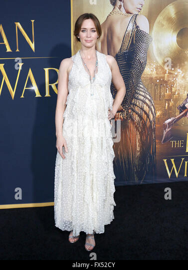 Los Angeles, California, USA. 11th Apr, 2016. Emily Blunt at the Los Angeles premiere of 'The Huntsman: Winter's - Stock Image