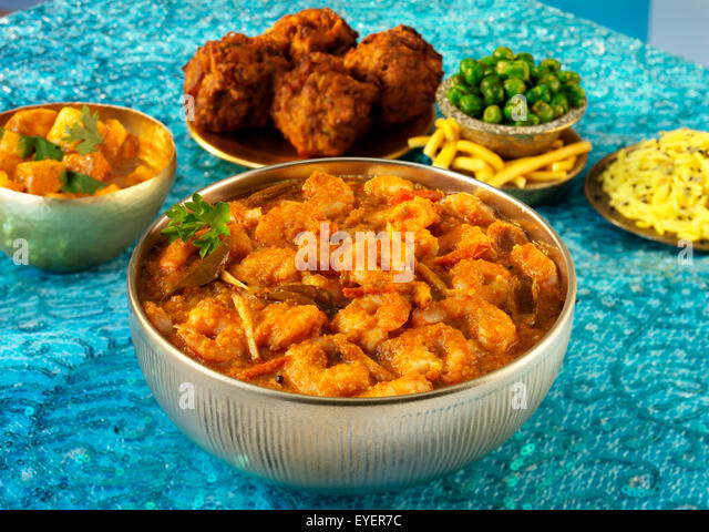INDIAN MALABAR PRAWN/SHRIMP SEAFOOD CURRY - Stock Image