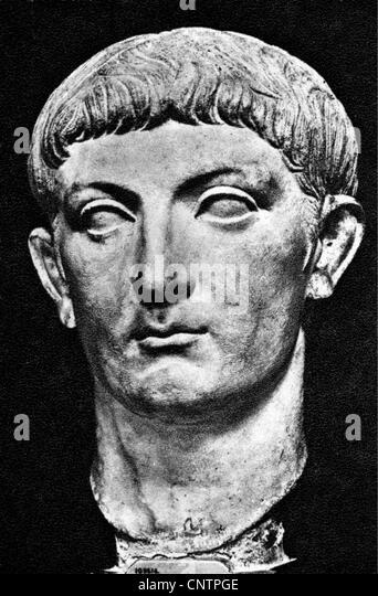 Drusus the Elder (Nero Claudius Drusus), 14.1.38 - September 9 BC, Roman military commander, stepson of Emperor - Stock Image