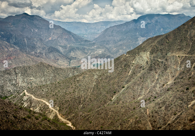 Peru, Leymebamba, Road to Cajamarca. View from Calla Calla Pass. (3600 m). - Stock Image