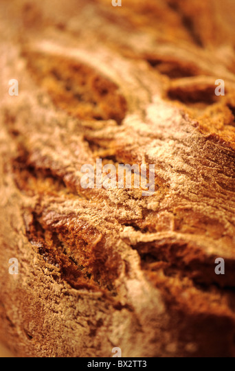 Background Backgrounds Bread Brown Close-up Color Colour Crust Detail Details Food Healthy Healthy food I - Stock Image