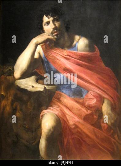 'Samson' by Valentin de Boulogne, c. 1630 - Stock Image