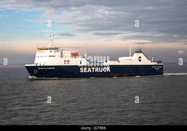 MS Struck Panorama, a ro-ro ferry operated by Seatruck Ferries.Built in 2007 by Spanish shipyard Astilleros de Huelva - Stock Image