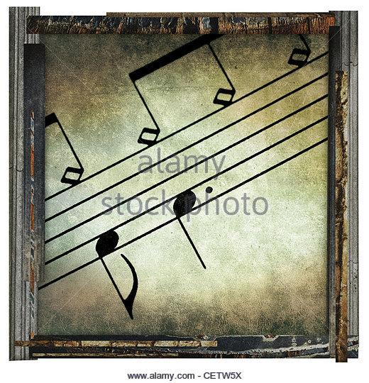 fine art music - Stock Image